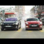 ПАССАЖИРЫ В ШОКЕ! Гонка TESLA Model S vs NISSAN GT-R  — КТО БЫСТРЕЕ?